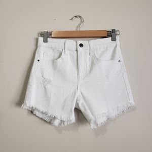 Treasure and Bond high rise distressed jean shorts